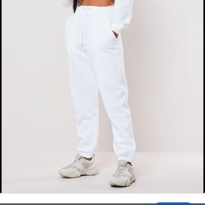 Missguided White Joggers